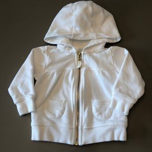 Carters White Zip up Hoodie